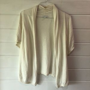 Linen shirt-sleeve cardigan